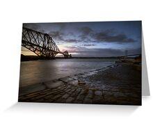 Forth Rail Bridge Sunrise Greeting Card