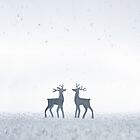 Winter Reindeer - iPhone by Andrew Bret Wallis