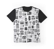Travel Essentials Pattern Graphic T-Shirt
