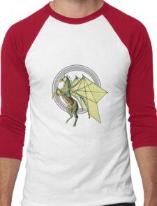 Mechanical Trojan Pegassus Men's Baseball ¾ T-Shirt