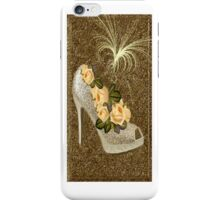 ✰* ★ GOLDEN GLITTER HIGH HEEL WITH ROSES IPHONE CASE ~♥~˚ ✰* ★ iPhone Case/Skin