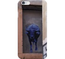 running of the blue bull iPhone Case/Skin