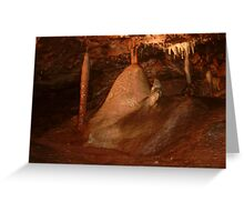 Stalagmites And Stalactites    Greeting Card