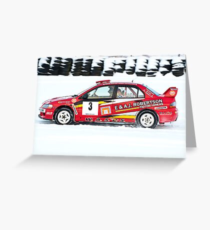 Mitsubishi Lancer Evo 9 Greeting Card