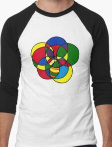 Encircled Circles Men's Baseball ¾ T-Shirt