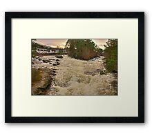 Winter Falls Framed Print