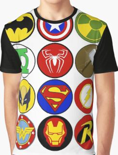 Superhero Symbol Graphic T-Shirt