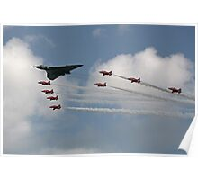 Red Arrows Escort the Avro Vulcan Poster