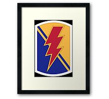 "79th Infantry Brigade Combat Team ""Thunderbolt"" (United States) Framed Print"