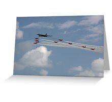 Vulcan XH558 and the Red Arrows Greeting Card
