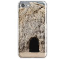 Africa, Ethiopia, Debub Omo Zone, hut of the Mursi tribe.  iPhone Case/Skin