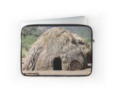 Africa, Ethiopia, Debub Omo Zone, hut of the Mursi tribe.  Laptop Sleeve