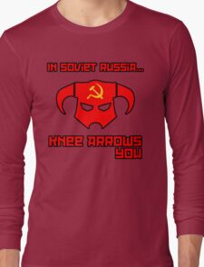 Soviet Knees Have Arrows... Long Sleeve T-Shirt
