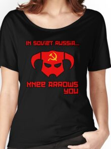 Soviet Knees Have Arrows... Women's Relaxed Fit T-Shirt