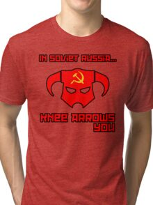 Soviet Knees Have Arrows... Tri-blend T-Shirt