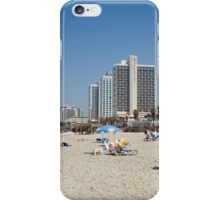 Israel, Tel Aviv, Holiday makers sunning on the beach iPhone Case/Skin