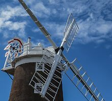 The windmill at Cley by Sue Purveur