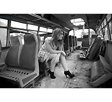 The Very Late Bus Photographic Print