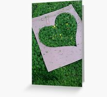 Green Valentinesday Love Greeting Card