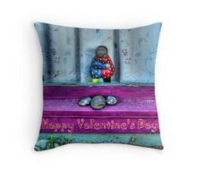 """ Window Hug""  Valentine's Day Card Throw Pillow"