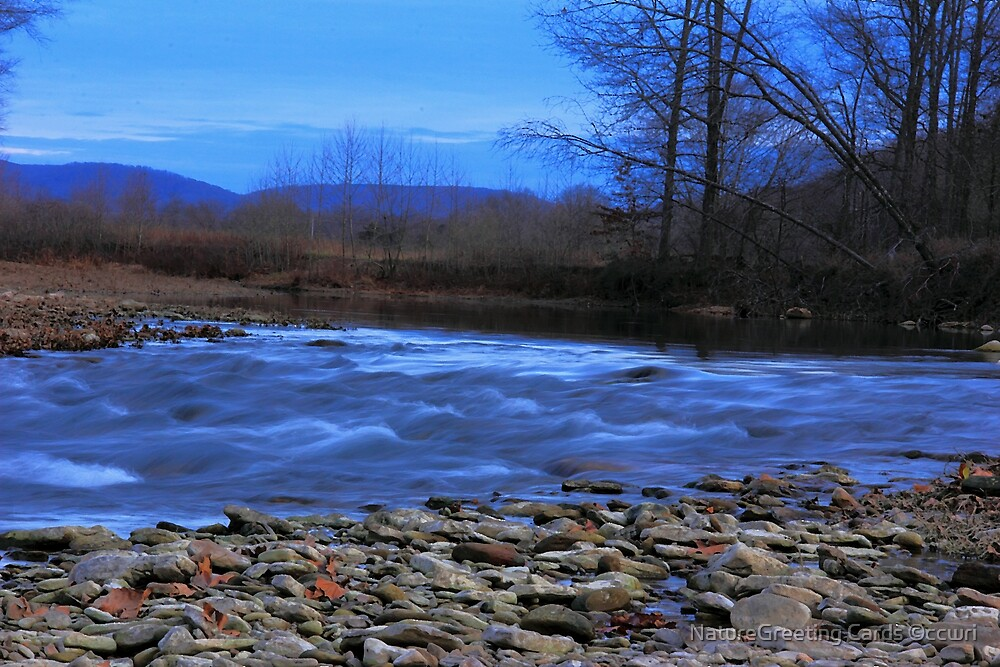 White River In The RAW! by NatureGreeting Cards ©ccwri