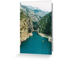 Gorge Of Verdon Greeting Card