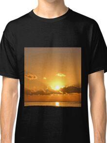 December Sunset Over Lyme, Dorset UK-2014-12-13 Classic T-Shirt