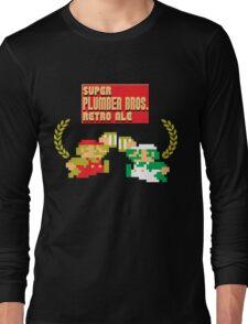 Super Plumber Bros. Retro Ale Alternate Long Sleeve T-Shirt