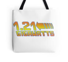 1 21 Gigawatts Back to The Future Tote Bag
