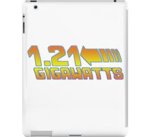 1 21 Gigawatts Back to The Future iPad Case/Skin