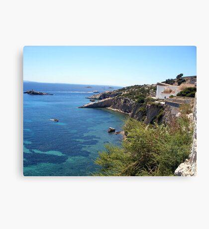 Blue Waters Around Ibiza Canvas Print
