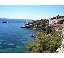 Blue Waters Around Ibiza Photographic Print