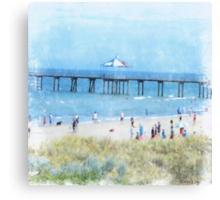 Xmas At Seacliff, South Australia Canvas Print