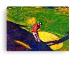 Babyboomer Golfing Canvas Print
