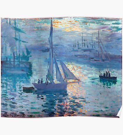 Sunrise - Marine - Claude Monet - 1873 Poster