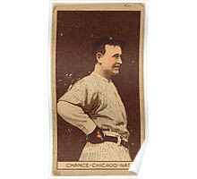 Benjamin K Edwards Collection Frank Chance Chicago Cubs baseball card portrait 004 Poster