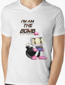 Bomberman: I'm am the BOMB Mens V-Neck T-Shirt