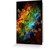 Beyond infinity-Time machine Greeting Card