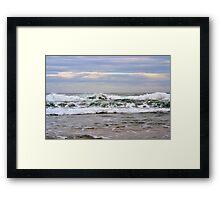 Palm Beach waves - 2011 Framed Print