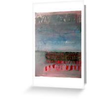 Red Dash Landscape Greeting Card