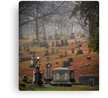 Old Gray Cemetery-1945 Canvas Print