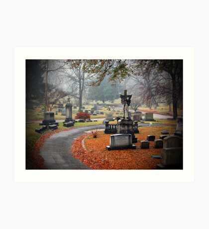 Old Gray Cemetery-1946 Art Print