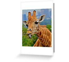 Giraffe Snacks / Refreshments ???. Greeting Card