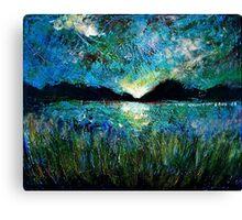 Twilight on a Transylvanian Lake Canvas Print