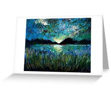Twilight on a Transylvanian Lake Greeting Card