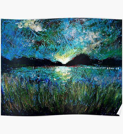 Twilight on a Transylvanian Lake Poster