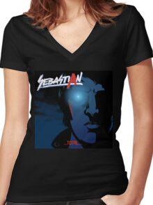 Total VS Nightcall (Cover Artist Swap) Women's Fitted V-Neck T-Shirt