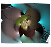 Spherical Disc - Abstract Flower Poster