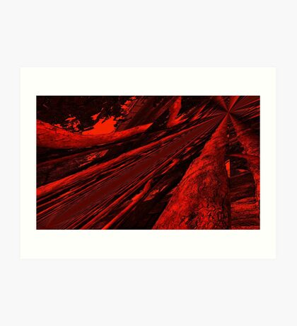 The Boreal Highway in the Midst of a Firestorm!!! Art Print