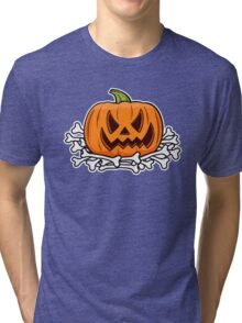 Halloween pumpkin Tri-blend T-Shirt
